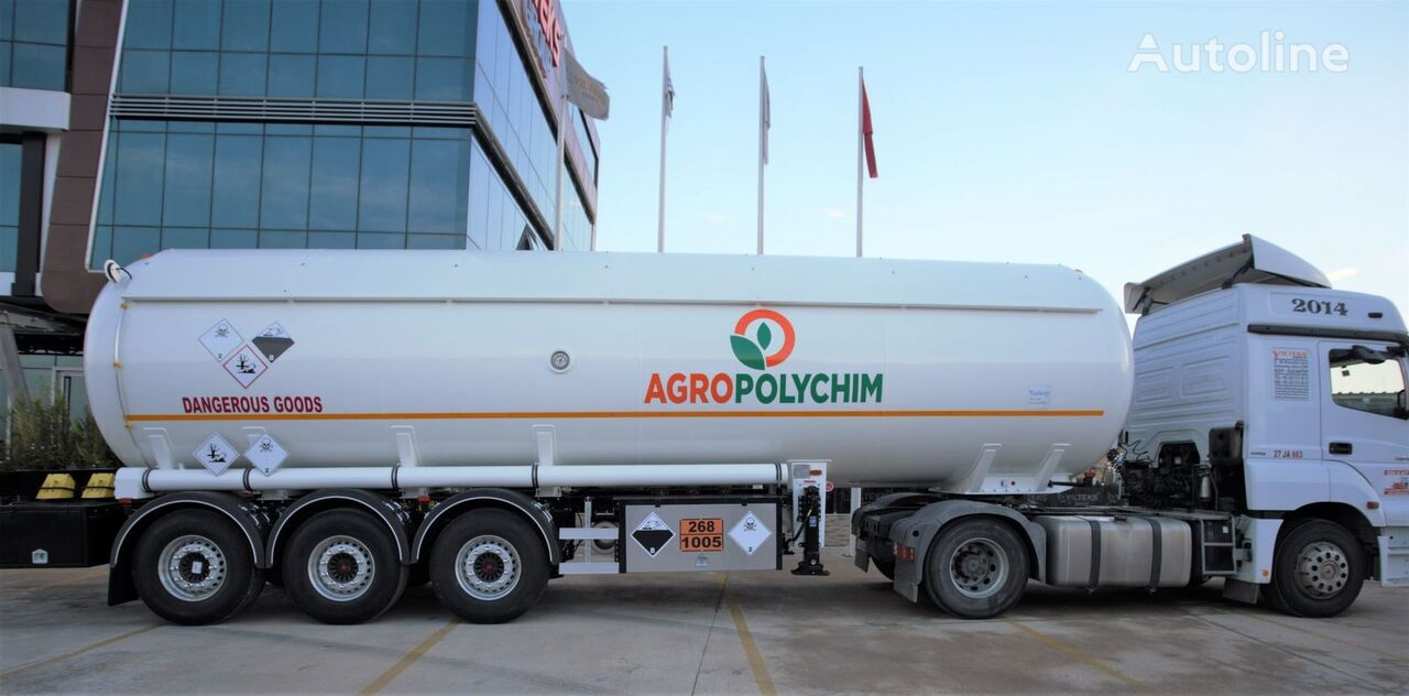 новая газовая цистерна YILTEKS ADR AMMONIA SEMI TRAILER