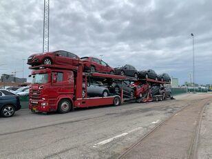автовоз SCANIA 580 V8 KTT Metago/Supertrans 10-Autos Euro6 + прицеп автовоз