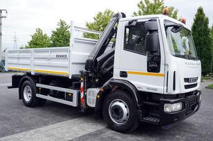 бортовой грузовик IVECO Eurocargo 160E25 , EEV , 4X2 , tipper + Crane , Remote Control