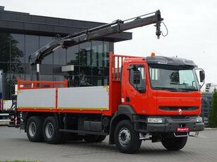 бортовой грузовик RENAULT Kerax 370 dci 6x4 Darus HIAB 144