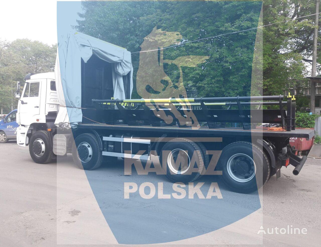 новый грузовик платформа КАМАЗ 8x4 for transporting steel coils