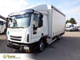 грузовик штора IVECO Eurocargo 80EL21 Manual + Euro 6 + Dhollandia Lift