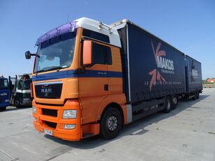 грузовик штора MAN TGX 18.480 / RETARDER / XXL / 13 L / FRENCH CAR / / / + прицеп штора