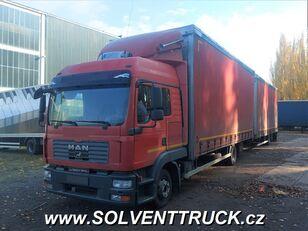 тентованный грузовик MAN TGL 12.240, Euro 4 + прицеп тентованный