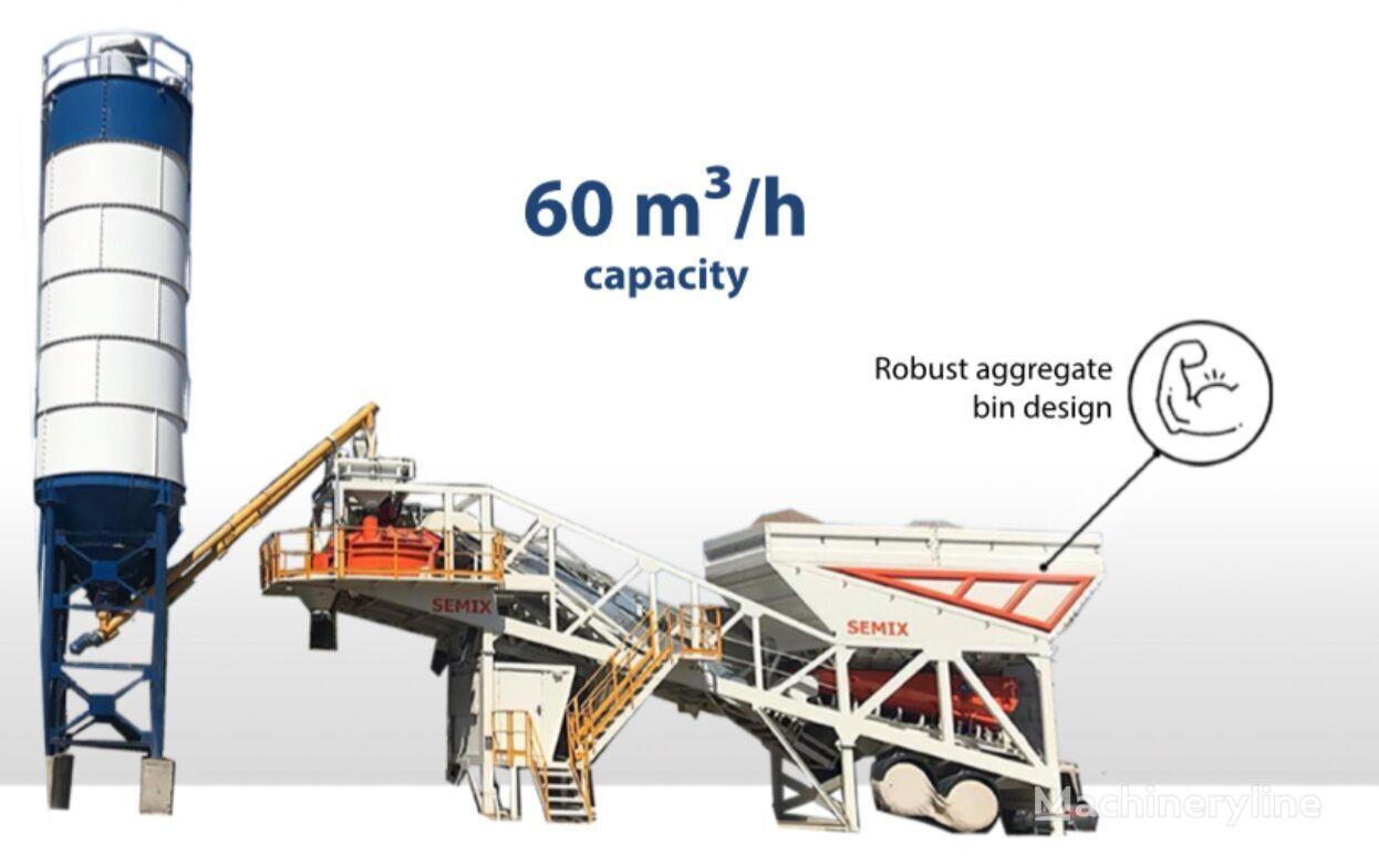 новый бетонный завод SEMIX Concrete Mixing Plant 60S